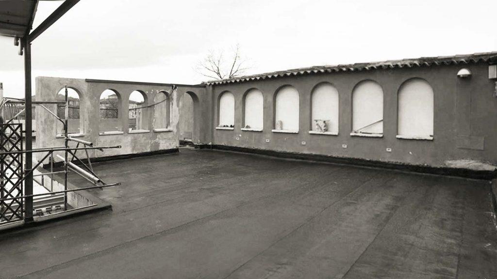 terrazza da ristrutturare